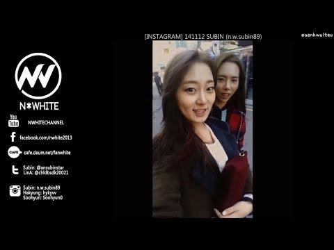 [INSTAGRAM VIDEO] 141112 N*WHITE 앤화이트 - SOOHYUN 수현 & SUBIN 수빈