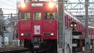 名鉄6000系 6029F (サクラサク切符2019板掲出編成 普通東岡崎行き) 新安城付近にて