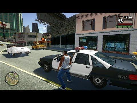GTA San Andreas With GTA V Graphics (V Graphics Mod)