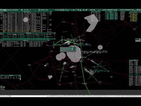 VATSIM ATC Session. Moscow Control.