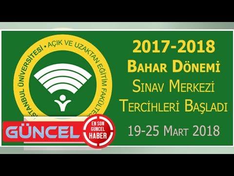 AUZEF 2017-2018 Bahar Dönemi Sınav Merkezi Tercihleri Başlattı