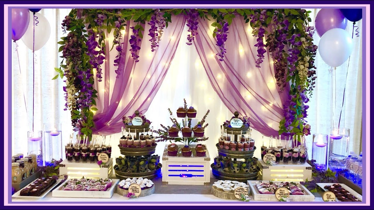create a dessert bar sweet 16 birthday wedding dessert table ideas