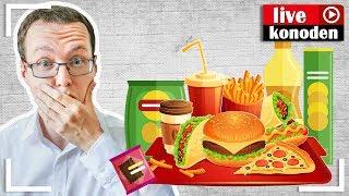 Здоровое питание против вредной еды