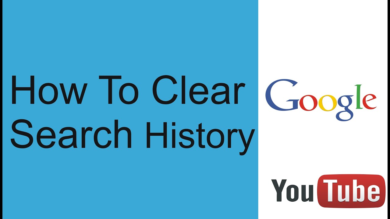 How to wipe your search and youtube history?