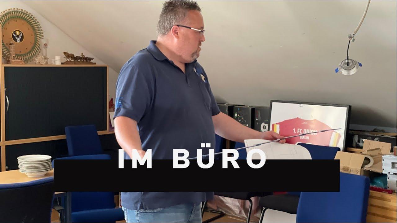 Udo & Wilke Vereinsheim Umbau mit Ron!   Im Büro