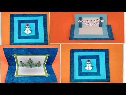 Beautiful Handmade Christmas card idea | DIY Greeting Cards for Christmas card.