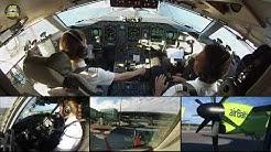 Captain Marina starring Air Baltic Q400 ULTIMATE COCKPIT MOVIE [AirClips full flight series]