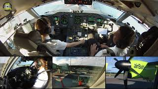 Captain Marina starring Air Baltic Q400 ULTIMATE COCKPIT MOVIE [AirClips full flight series]