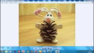 Заяц из шишек