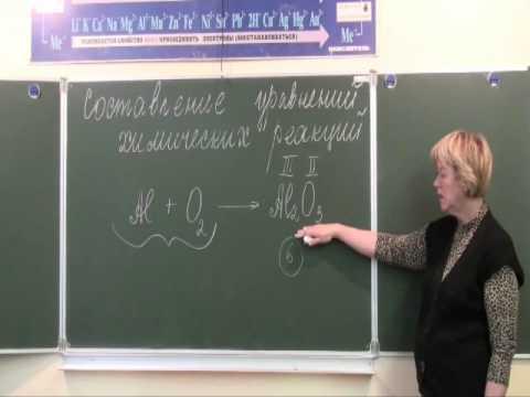 Составление уравнений химических реакций