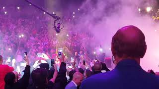 Keith Thurman ring entrance for Manny Pacquiao at MGM Grand