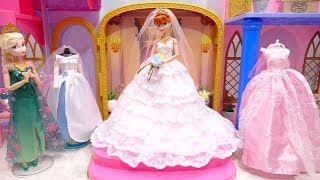 Wedding Dresses Frozen Anna Dress up Beautiful gown Elsa attend to Makeup Jewelry Accessory