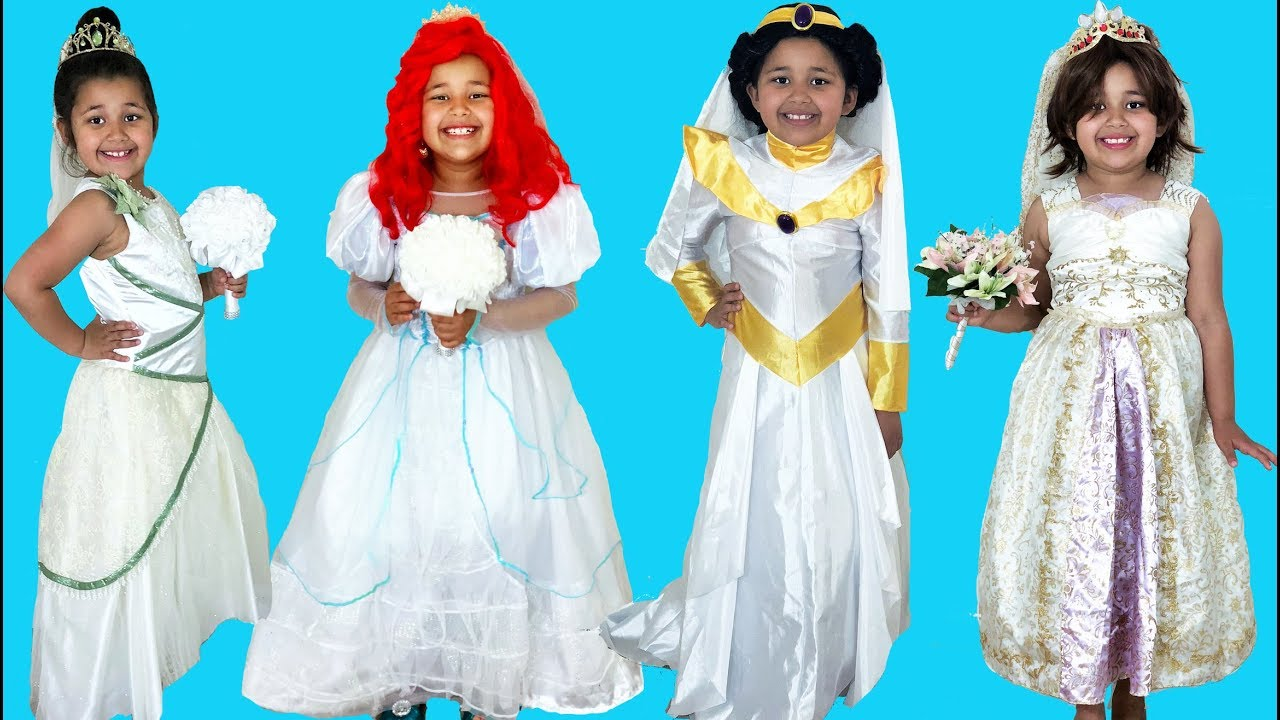 Disney Princess Royal Wedding Halloween Costumes and Toys - YouTube