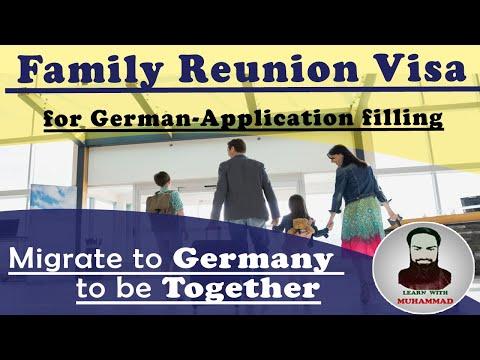 Family Reunion Visa for German-Application filling