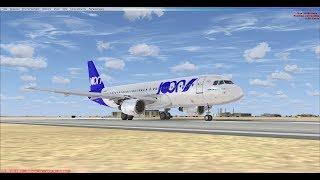 FSX JOON flight barcelona to Paris Airbus A320