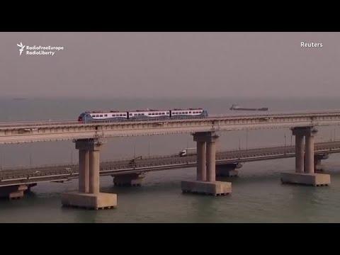Putin Inaugurates Crimea-Russia Rail Link