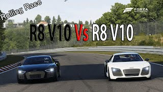 Forza Motorsport 6 - DRAG RACE: Audi R8 V10 Plus 2016 Vs Audi R8 V10 Plus TOP GEAR CAR PACK