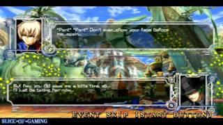 Slice of Gaming - BlazBlue: Continuum Shift II (PSP) Jin Arcade Run (Full)