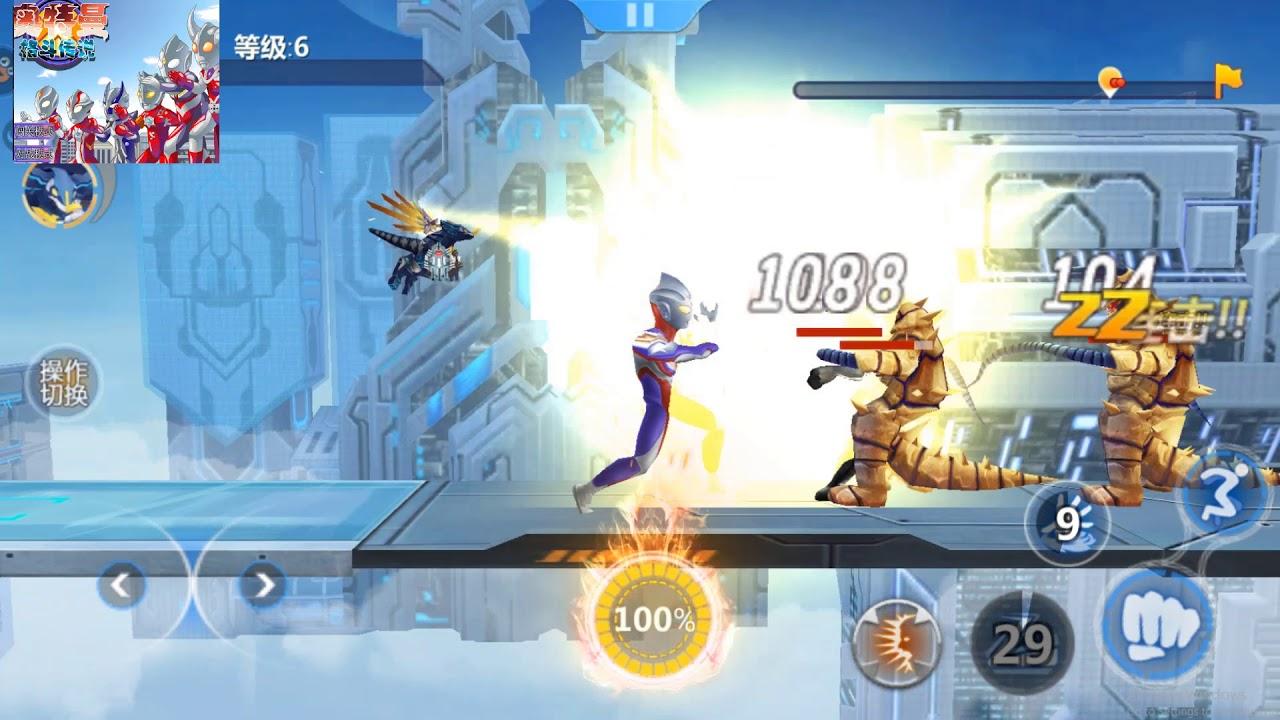Sieu nhan game play   Ultraman mobile game #2   siêu nhân Tiga giải cứu vũ trụ