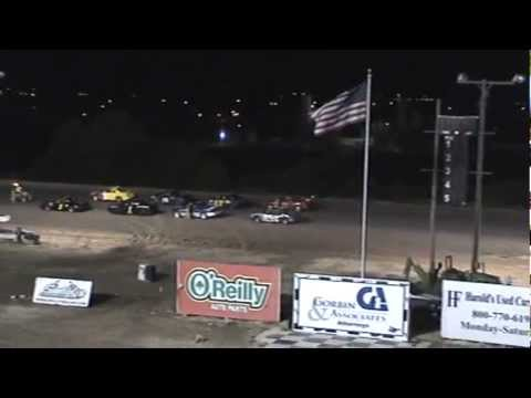 Texas Thunder Speedway-Outlaw Twisters with LiJ in 1j and his dad in 99