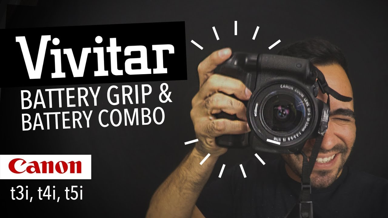 Vivitar PowerGrip - BatteryGrip + Baterias Vivitar Canon t4i | Review en Español