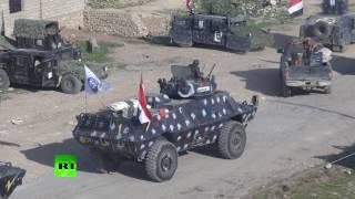 RAW  Iraqi army approaching Mosul airport