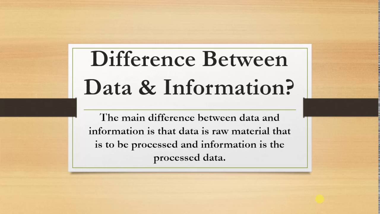 the differences between data and information