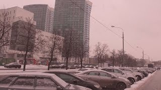 [Псв 28] Улица Лавочкина и Флотская ЗИМОЙ ДНЁМ, здания, дома, Дворец спорта на самой окраине Москвы