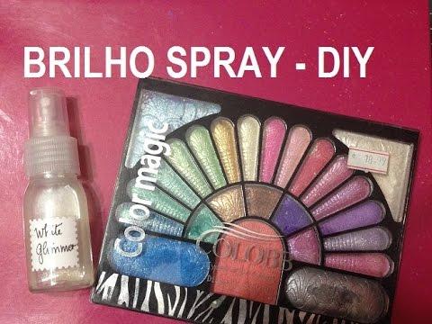 Brilho (Madrepérola) em Spray, como fazer ? (Glimmer spray) - DIY - VIDEO