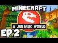 Jurassic World: Minecraft Modded Survival Ep.2 - UDDERSHOT!!! (Rexxit Modpack)