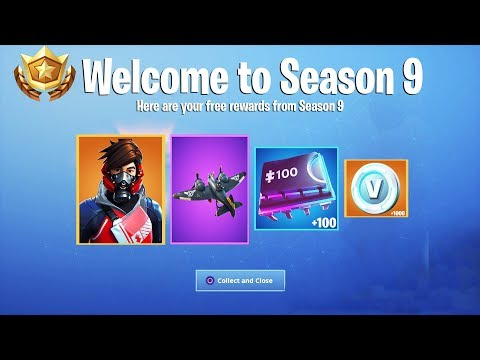 All New Season 9 FREE Rewards in Fortnite! Season 9 Free Items + Rewards! (Season 9 Rewards)