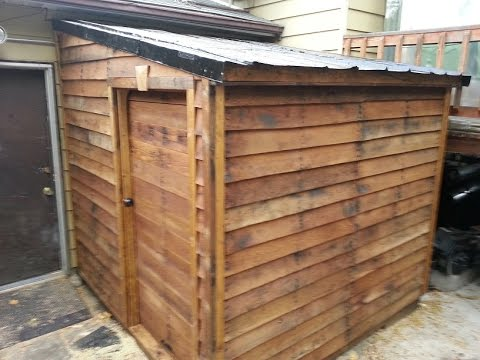 Shed From Free Pallets Timber Framing Part 1 Youtube