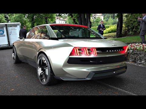 Peugeot E-Legend Concept Driving On The Road & Overview @ Villa D'Este 2019