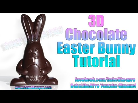 3D Chocolate Easter Bunny Tutorial