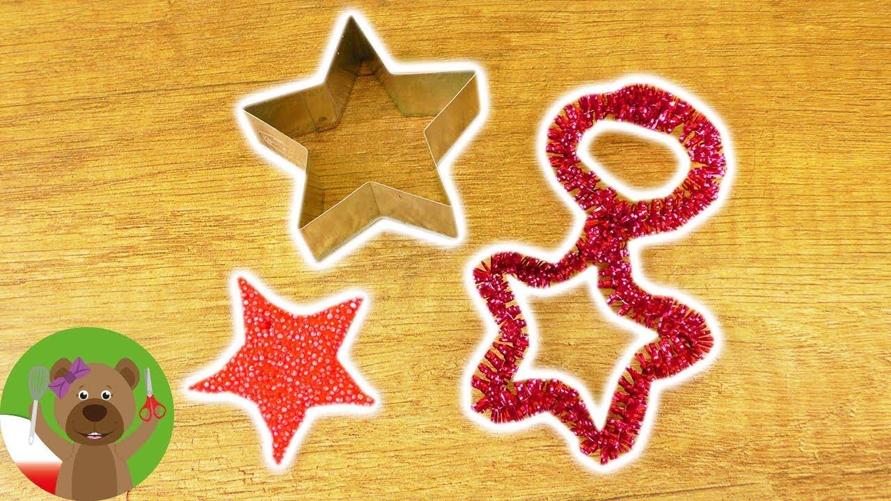 Dekoracja świąteczna | dwa pomysły na gwiazdki z foremki | DIY Kids
