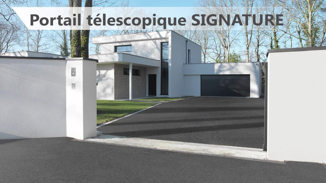 Nouveaute Portail Coulissant Telescopique Sib