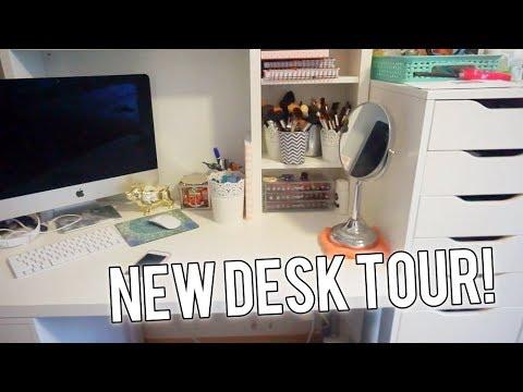 NEW DESK/VANITY TOUR! - VLOG #66