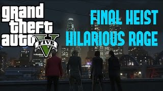 Cover images GTA 5 PC: FUNNY RAGE (FINAL HEIST)!!!