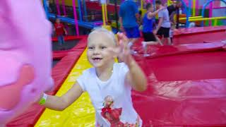 Alice play on kids playground