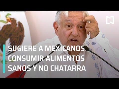 """AMLO pide a mexicanos no consumir alimentos """"chatarra"""" - En Punto con Denise Maerker"""