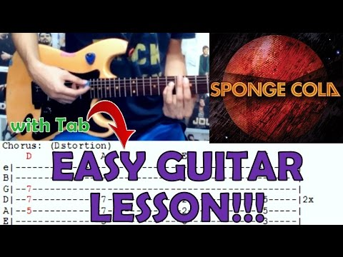 Jeepney Sponge Colacomplete Guitar Lessoncoverwith Chords And