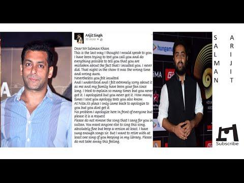 Arijit Singh - Salman Khan Misunderstandings   Unintentional   Bhaijaan Felt Insulted   Open Apology Mp3