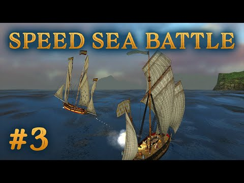 Lugger Vs Courier Lugger - Speed Sea Battle #3 - Sea Dogs: To Each His Own - Impossible Difficulty