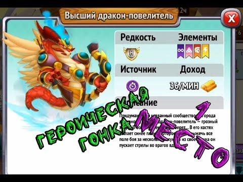 ВЫСШИЙ ДРАКОН ПОВЕЛИТЕЛЬ/ГЕРОИЧЕСКАЯ ГОНКА - 1 МЕСТО - ГОРОД ДРАКОНОВ