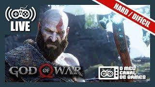 [Live] God of War (PS4 Pro): DIFICULDADE HARD - Até Zerar AO VIVO PARTE FINAL