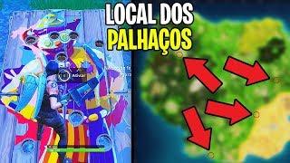 MARQUE 10 OU MAIS PONTOS EM DIFERENTES QUADROS DE PALHAÇO DE PARQUE - Fortnite Battle Royale