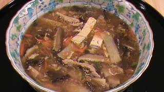 Chinese Hot & Sour Soup -- Quick & Easy Chinese Cuisine  By Chinese Home Cooking Weeknight Show