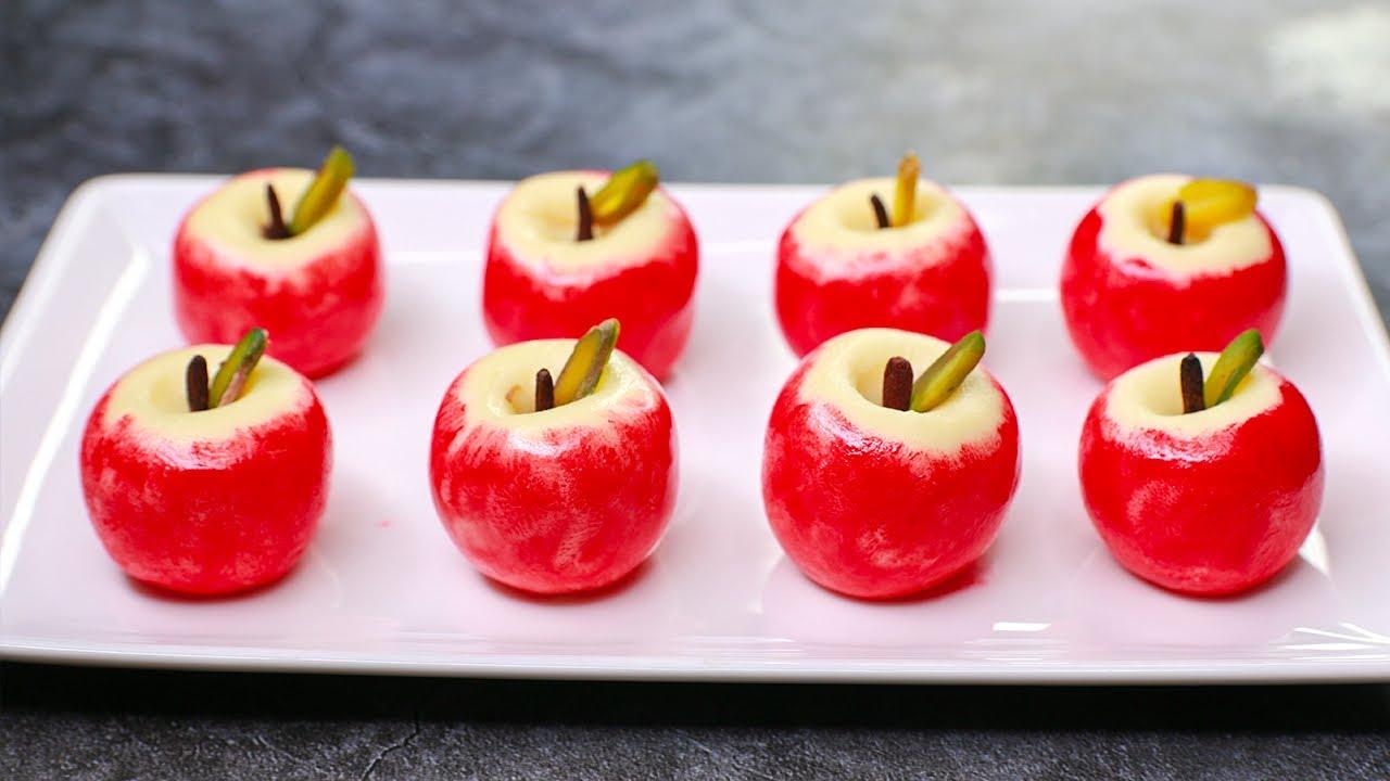 Apple  Peda | Apple Shape Milk Peda Recipe | Instant Milk Peda Recipe | Yummy