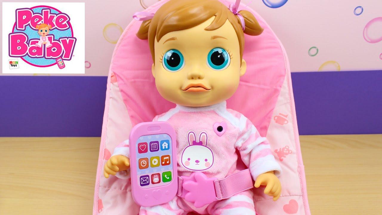 Muñeca Pekebaby Emma IMC Toys   La bebé aprende a hablar, come ...