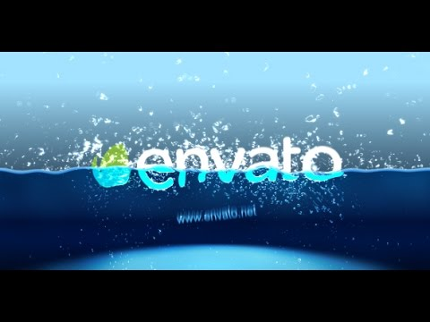 After Effects Template Half Water Logo Intro YouTube